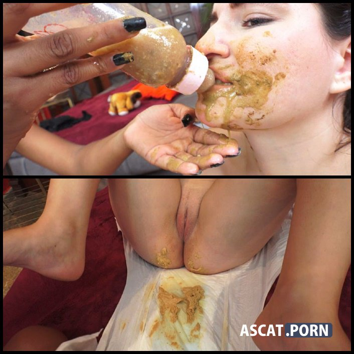 FOOD FOR MY LITTLE GIRL -  Bruna, Isa Blue - lesbian scat domination, Ultra HD 4K (Release Year: January 28, 2017)