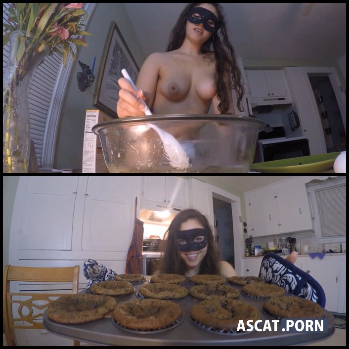 Poo Muffin Bake & Play Part 2 - LoveRachelle2 - poop videos, scat, toilet slavery, Full HD 1080p (Release Date: 2017)