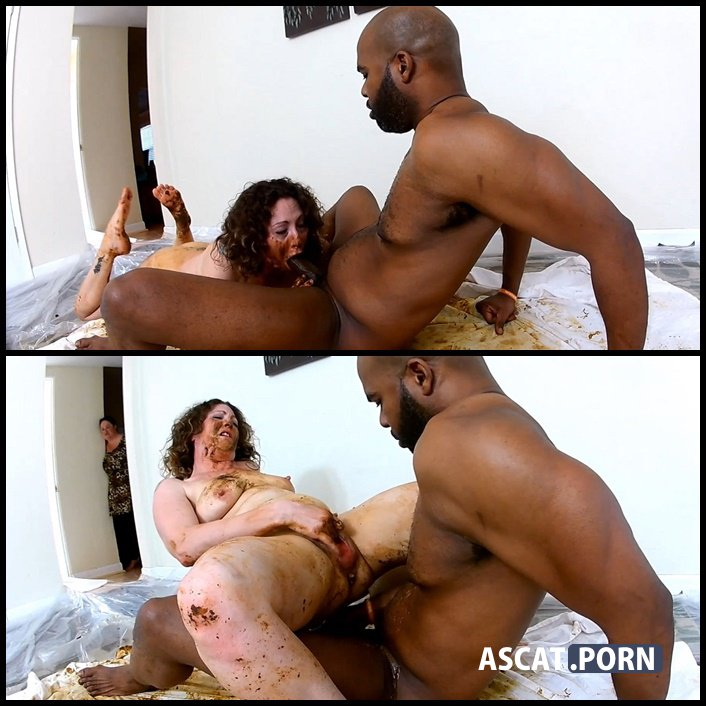 Woman shitting on black dick and masturbates dirty pussy - scat swallow, shitting porn, Full HD 1080p (Release Date: 2017)