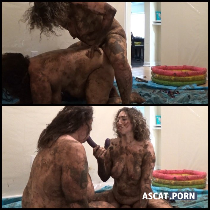 Scat Wrestling - SamanthaStarfish vs ScatGoddess - poop videos, scat smearing, groups/couples, Full HD 1080p (Release Date: March 3, 2017)