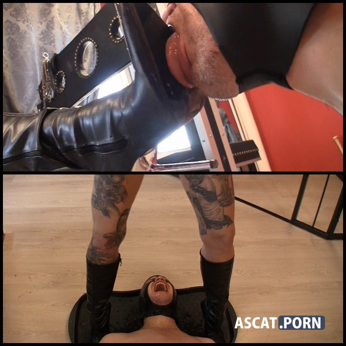 Lick my dirty boots and be my toilet - scat-movie-world - toilet slavery, piss smothered, Full HD 1080p (Release Date: March 11, 2017)