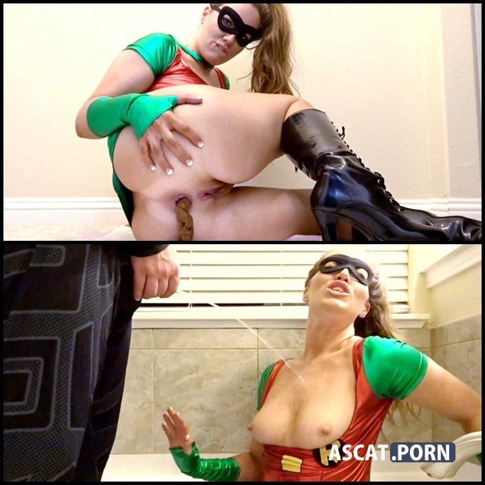 BG Batman punishes Robin for Shitting with Golden Shower - GoddessRyan | Full HD 1080p | June 19, 2017