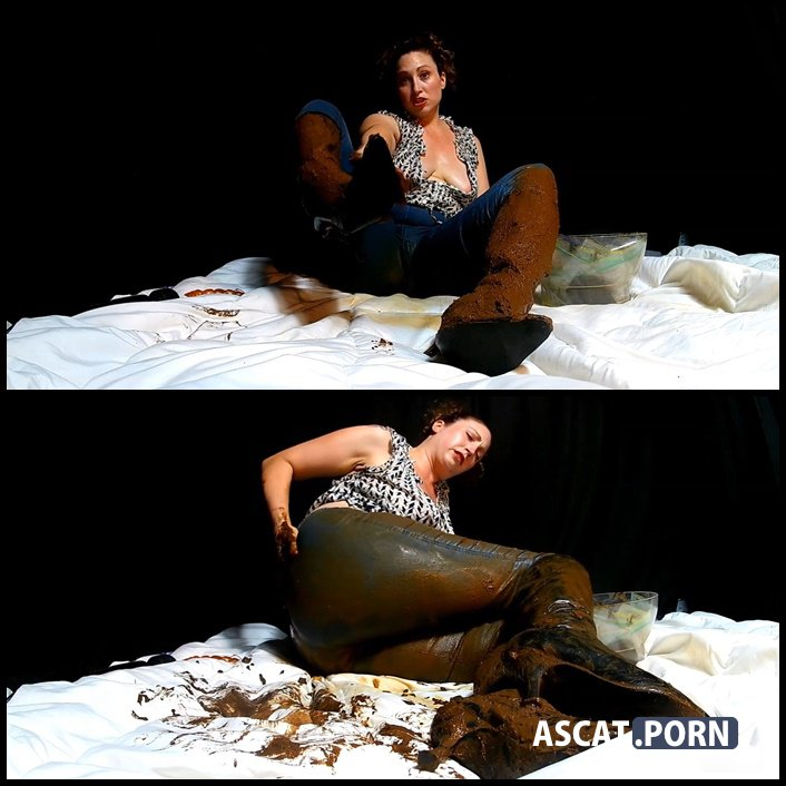 Boot and Messy Jean Smear - Scat Goddess   Full HD 1080p   August 12, 2017