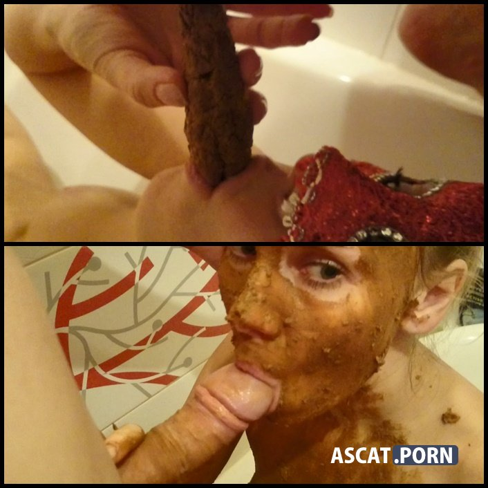 Dirty very deep blowjob with shit - Brown wife | Full HD 1080p | October 28, 2017