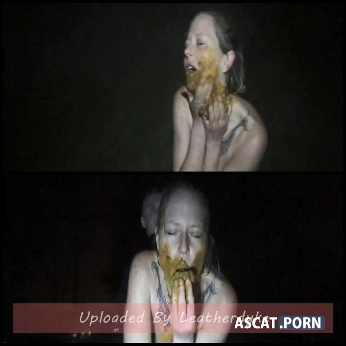 Farted out in the dark outdoor my enema with scatsusan | Full HD 1080p | December 15, 2017