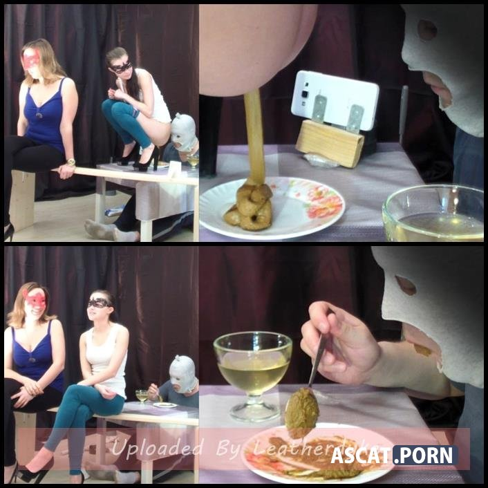 2 mistresses cooked a delicious shit breakfast for a slave with Smelly Milana | Full HD 1080p | April 10, 2018