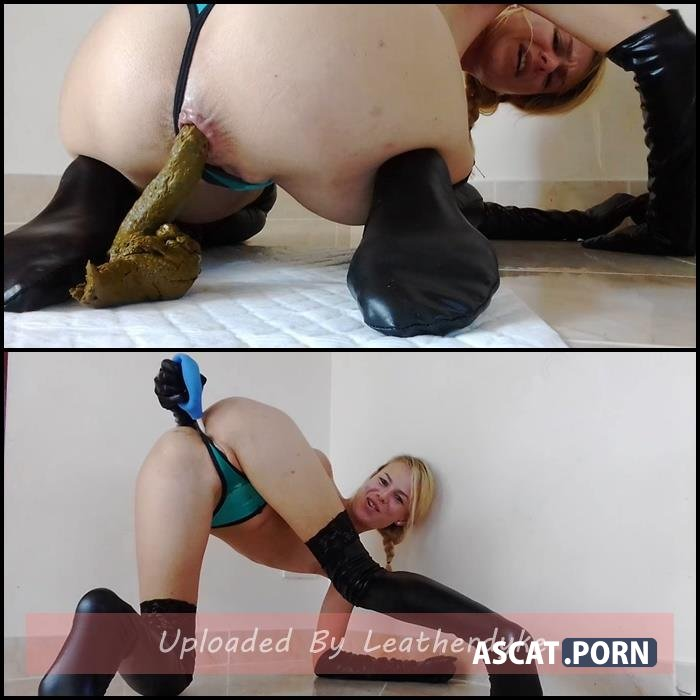 Painful Shit in Thong and Latex, Enema Mess with MissAnja | HD 720p | Dec 05, 2018