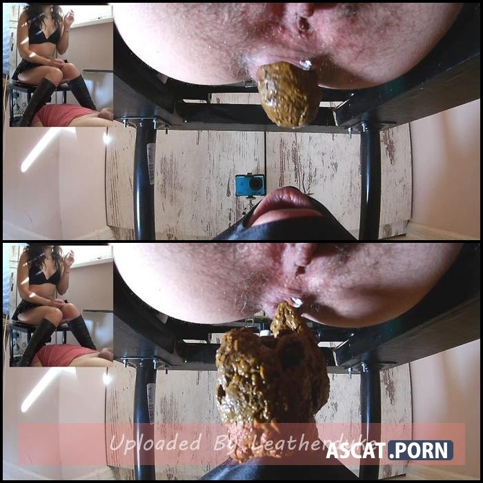 Big Shit and Cum in his mouth with MistressAnna | Full HD 1080p | Dec 16, 2018