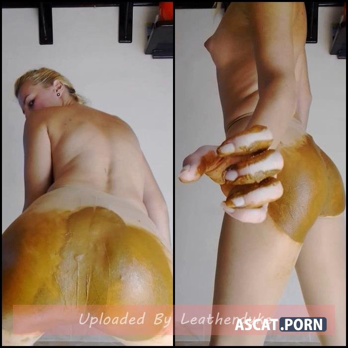 Monster Poo Filling My Nude Pantyhose Ass Smearing with MissAnja | Full HD 1080p | Sep 30, 2019