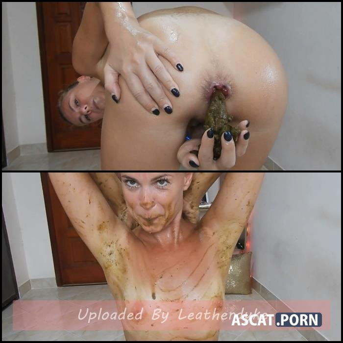 Sexy Sweaty Scat Smearing/Licking with MissAnja   Full HD 1080p   May 14, 2020