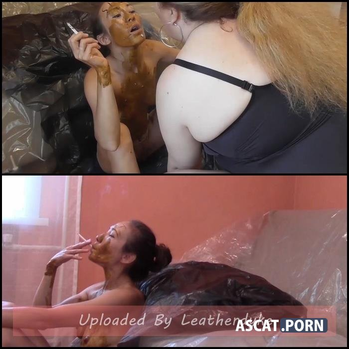 Shitty slut covered in shit serves my ashtray with Mistress | Full HD 1080p | June 30, 2020