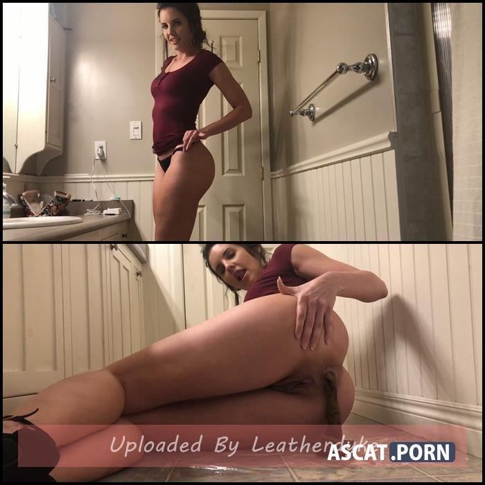 burgundy dress ass poop worship with TinaAmazon | Full HD 1080p | July 20, 2020