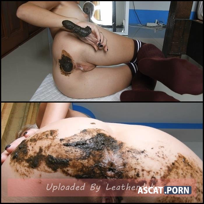 Sticky Shit/Anal Fun In Burgundy Knee Socks with MissAnja   Full HD 1080p   May 07, 2021